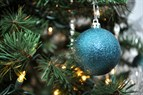 Photo of a bauble on a Christmas tree