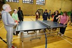 Photo of disabled people playing table tennis