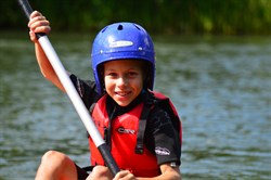 Photo of a child enjoying the Family Fun Weekend at Dinton Pastures