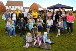 Photo of a group of people taking part in the Big Lunch