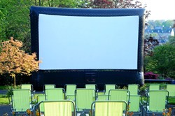 Photo of an outdoor cinema