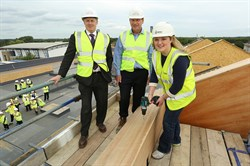 Bohunt School Wokingham topping out ceremony