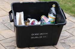 Photo of a recycling box