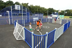 Photo of the new MUGA in Finchampstead