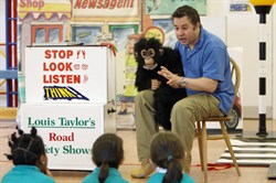 Road safety roadshow with Louis Taylor