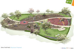 Artist impression of the Elms Field Play area proposal