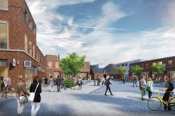 Artists impression of Peach Place Square