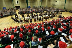 Photo of the annual carol concert