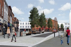 Artists' impression of what Market Place could look like