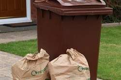 Photo of a garden waste bin