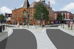Artists impression of Wokingham Market Place improvements