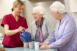 Elderly women tea with carer.jpg