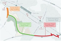 Phase 2 - Winnersh Relief Road map