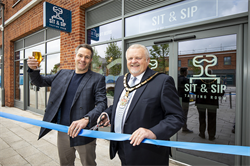 Sit and Sip opening with Mayor