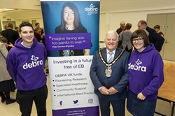 web Wokingham Borough Council Mayor Cllr Bill Soane and Debra UK charity representatives.jpg