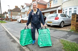 WBC Recycling Bags with Cllr Parry Batth